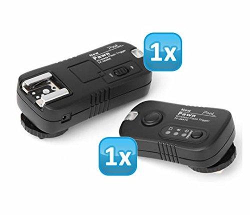 Pixel Pawn TF-364 Funk Blitzausloeser Set bis zu 100m fuer Panasonic, Leica und Olympus Blitzgeraete - Funkausloeser Kamera- und Blitz
