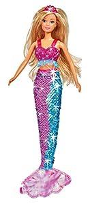 Simba- Steffi Love Swap Mermaid Muñeca 29cm con Lentejuelas, Color (105733330)