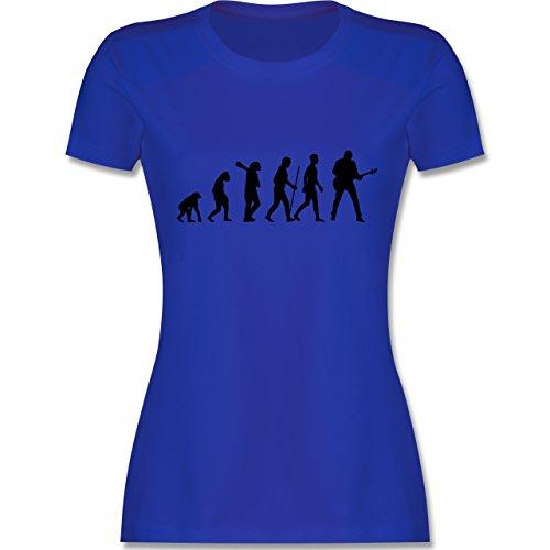 Evolution - Gitarrist Evolution - tailliertes Premium T-Shirt mit Rundhalsausschnitt für Damen Royalblau
