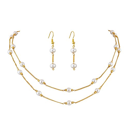 Eklavya Jewels Gold Plated Chain With Necklace For Women And Girls