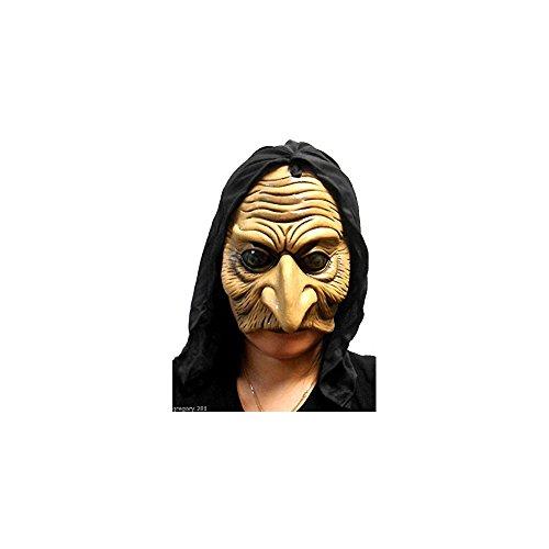 een Kapuzen Evil Chinless Old Hexe Goblin Maske ()