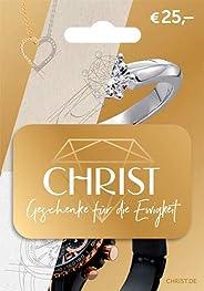 Gutscheinkarte von CHRIST Juweliere - für Deutschland - per Post