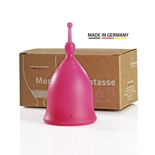 """Feecup Menstruationstasse Fee2 \""""SPORT\"""" (pink) - MADE IN GERMANY - medizinisches platin Silikon - USP 6 Zertifiziert - Bei Sportlerinnen eine der beliebtesten Menstruationstassen in Deutschland"""