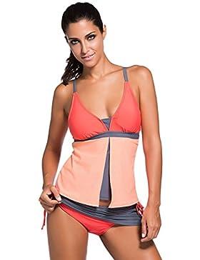Miweel Donna Mare e Piscina sportivo Tankini Bikini due pezzi di costumi da bagno