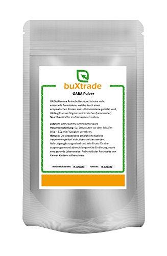 2 x 500 g GABA Pulver - Gamma | Aminobuttersäure | rein 1 kg (Gamma-aminobuttersäure Schlafen)