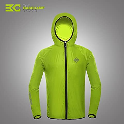 MaMaison007 Piel al aire libre ropa protector solar ropa transpirable cortaviento chaqueta - verde-M