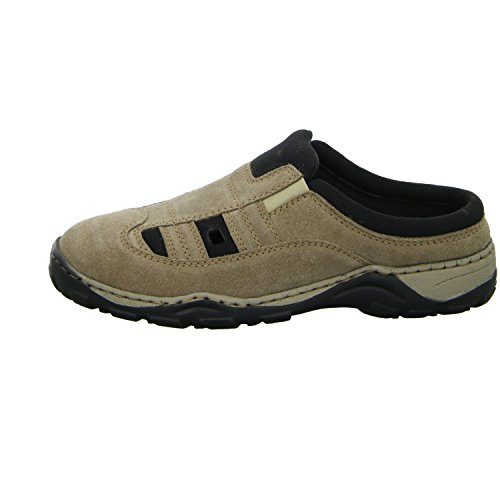 scarbello Y61-Y61-04 Herren Clog sportlicher oder eleganter Boden Beige (Beige)