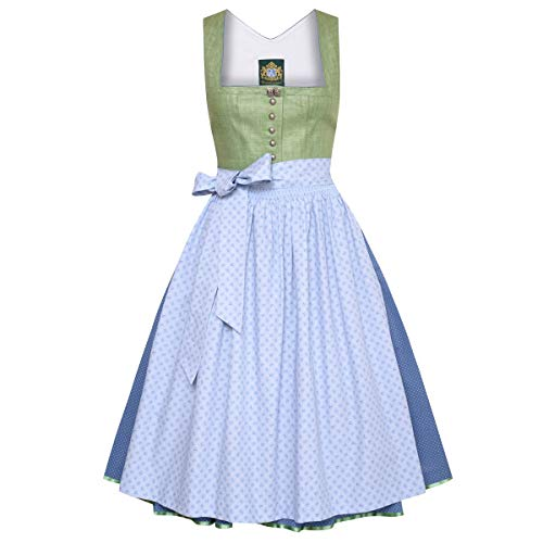 Hammerschmid Damen Trachten-Mode Midi Dirndl Brunnsee in Grün traditionell