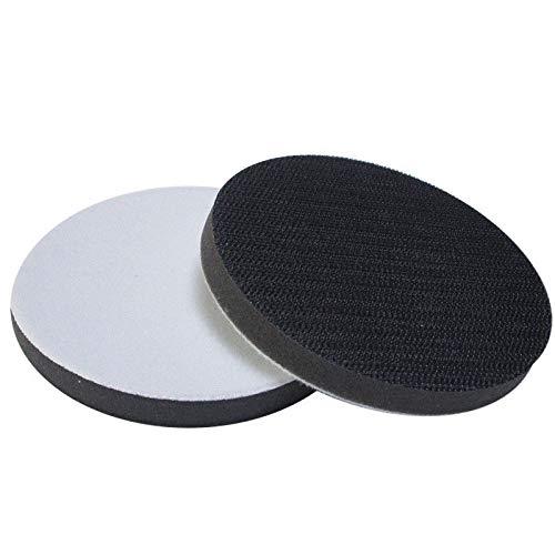 Weiches Interface-Pad, SENRISE Schleifunterlage, zum Schleifen von abgerundeten Oberflächen und Konturen, Klett-Schleifscheiben, schwarz/weiß (Schleifen Interface-pad)