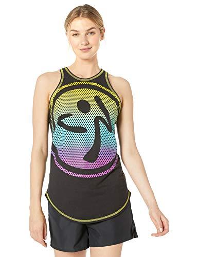 Zumba Fitness® Women's High Neck Workout Fashion Design Tank Top, Mujer, Shocking Pink, XL