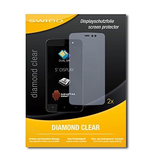 SWIDO 2 x Bildschirmschutzfolie Allview V1 Viper L Schutzfolie Folie DiamondClear unsichtbar