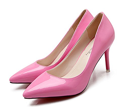 XTIAN , Coupe fermées femme rose bonbon