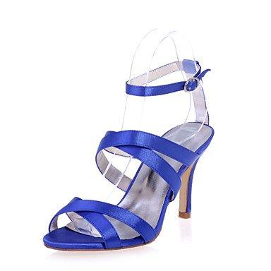 RTRY Scarpe Donna Satin Stiletto Heel Punta Aperta Sandali Matrimoni/Parte &Amp; Sera Scarpe Più Colori Disponibili US9 / EU40 / UK7 / CN41