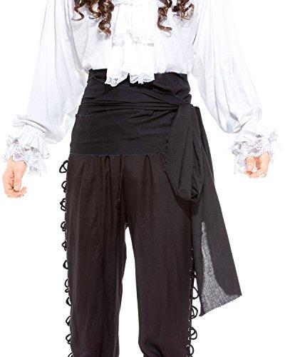 Leintuch Pirat Mittelalter Renaissance Große Schärpe [C1417], C1417-Black, Schwarz, C1417-Black