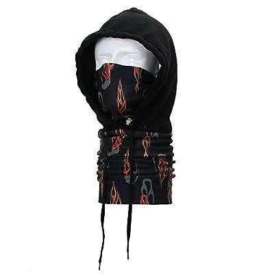 Tofern Vielseitig Balaclava Sturmhaube Fleece Haube Snowboard Skifahren Motorrad Maske Paintball Rave Vollgesichtsmaske Kopftuch Nackenwärmer, 10 Farben