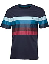 Mens Everyday Casual Striped T Shirt Top
