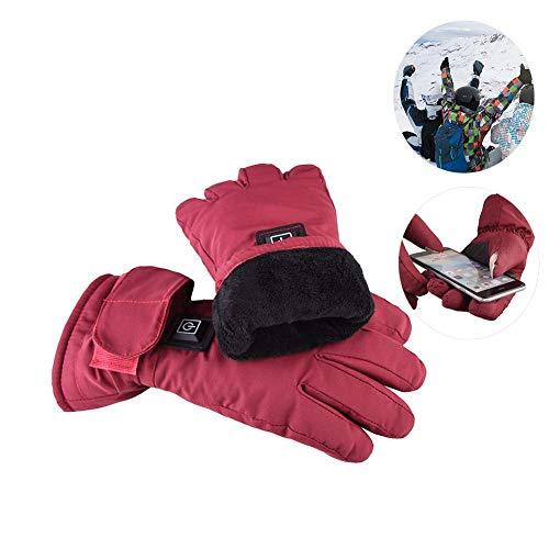 Samber Damen Handschuhe Winterhandschuhe Beheizbar Wiederaufladbar für Outdoor Außenraum Elektrisch Geheizt Warm Bequem