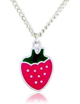 Pinker Erdbeer Anhänger Halskette