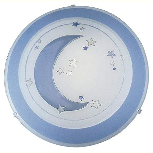 EGLO Deckenleuchte, Glas, E27, Blau