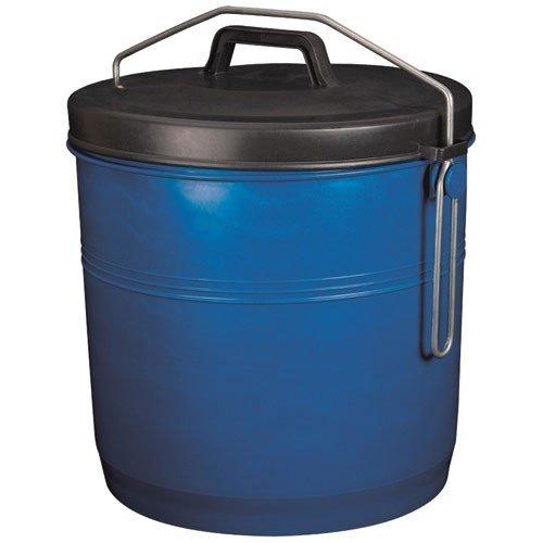 ALUMINIUM ET PLASTIQ Poubelle Couvercle inséparable 16l Bleu