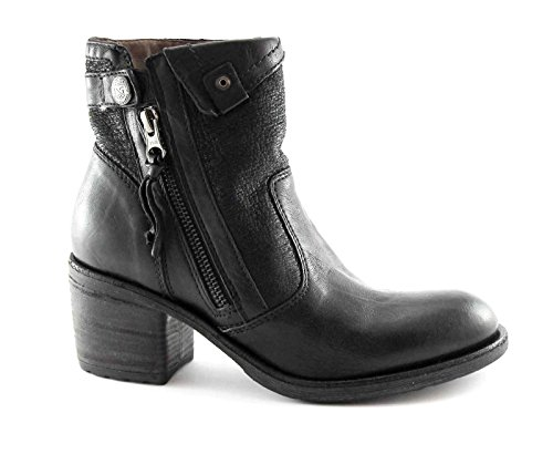 Nero Giardini BLACK JARDINS 16120 noir bottes zip femmes bottes talons en cuir