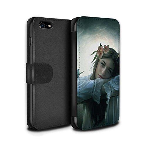 Officiel Elena Dudina Coque/Etui/Housse Cuir PU Case/Cover pour Apple iPhone 8 / Bain Caché Design / Un avec la Nature Collection Rêveur