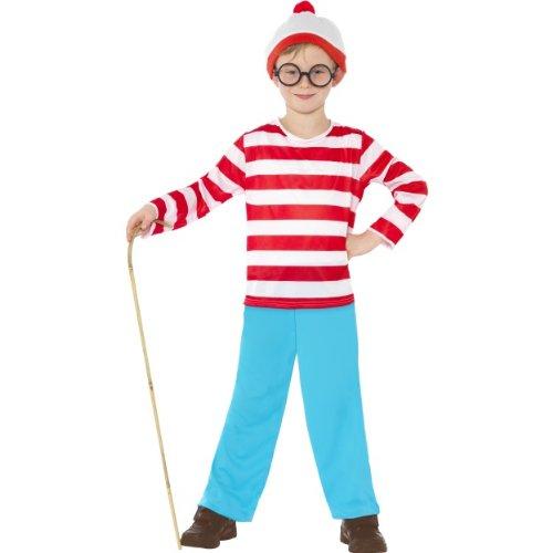 Ist Wally Kostüm Wo Kind - Smiffys Karneval Kinder Kostüm Wally Wo ist Walter Wimmelbild Gr.4-6 J.