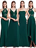 Ever Pretty Damen Elegante Lang Businiss Party Hochzeit Abendkleider 44 Größe Dunkelgrün