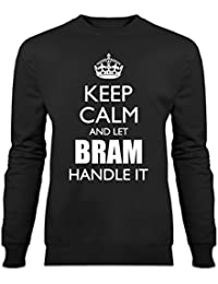 Sudadera Keep Calm And Let BRAM Handle It by Shirtcity