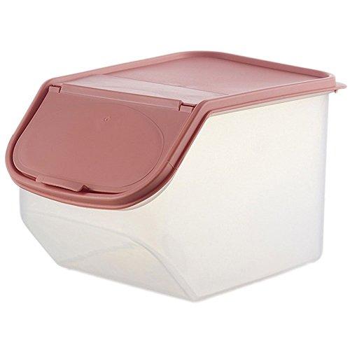 LAAT Clamshell Rice Aufbewahrung Box Bulk Storage Bins Lebensmittel Lagerung Container Covered Verschiedene Körner Snack Aufbewahrungs Box Kunststoff Rosa (S) (Lebensmittel-lagerung-container Bulk)