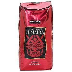 Kirkland Signature Sumatra French Roast Whole Bean Coffee 3lb Bag