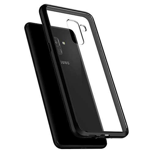 Spigen 590CS22751 Ultra Hybrid Hülle kompatibel mit Samsung Galaxy A8 2018 Hülle Transparent Durchsichtige PC Rückschale Schutzhülle Case - Schwarz