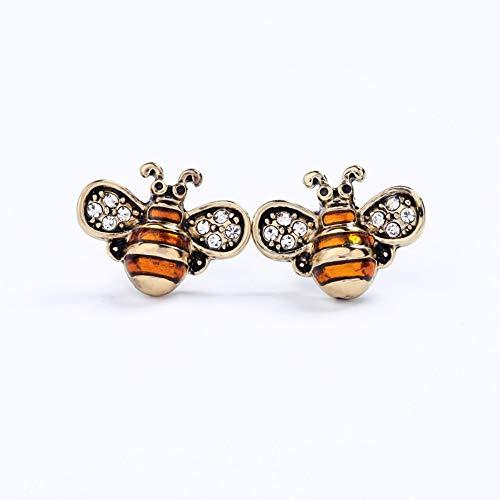 ZHWM Ohrringe Ohrstecker Ohrhänger OrangeLegierung Emaille Kleine Insekten Ohrstecker Für Frauen Süße Süße FarbenVintage Ohrringe Weibliche Mode-Accessoires