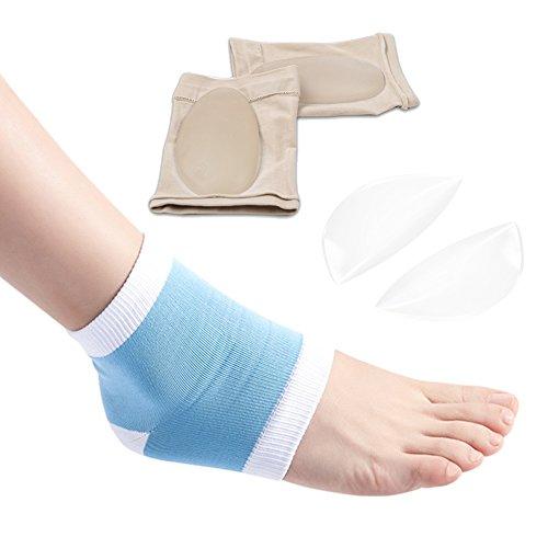 Cura dei piedi Arch Support eases-komfortou Gonfiore calcaneare Gel calzini per piedi piatti rigida passi alta debole e cedimento dolore sollievo