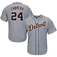 YQSB Camiseta Deportiva Baseball Jersey Liga de béisbol Detroit Tigers # 24 Cabrera,Gray,Men-M