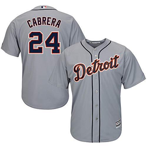Cabrera Jersey (YQSB Jersey Baseball League Detroit Tigers # 24 Cabrera,Gray,Men-M)