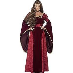 Smiffy's Disfraz de reina medieval, color rojo (27877X1)