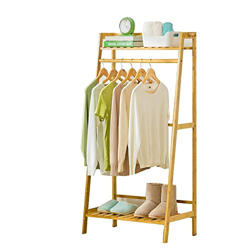 Schuh-speicher-organisator (Garderobenständer Duo Kleidungsstück-Kleiderbügel aus Holz, der Hochleistungsregal mit oberem Regal und Schuh-Kleidungs-Speicher-Organisator-Regalen hängt Kleiderständer (größe : 70CM))