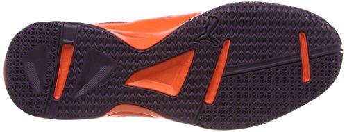 Puma Unisex-Erwachsene Tenaz Handballschuhe, Orange (Shocking Orange-Puma White-Shadow Purple 03), 46 EU - 3