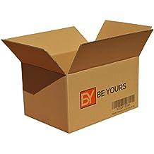 Pack de 20 Cajas de Cartón - Canal Simple de Alta Calidad Reforzado - Fabricadas en España - Cajas de Mudanza, Color Marrón - Tamaño 430 x 300 x 250 mm