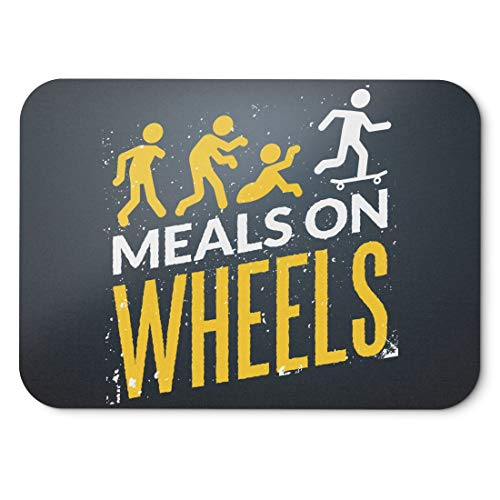 BLAK TEE Halloween Meals on Wheels Mouse Pad 18 x 22 cm in 3 Colours Black