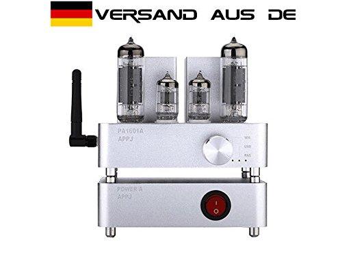 Nobsound 3W+3W 6J1 & 6P4 APPJ PA1601A WI-Fi & Airplay & DLNA Smart Home Mini HiFi Tube Amplifier Aduio Power Amp USB PC & U-Disk & SD Card & Aux Input Röhrenverstärker (Silver)