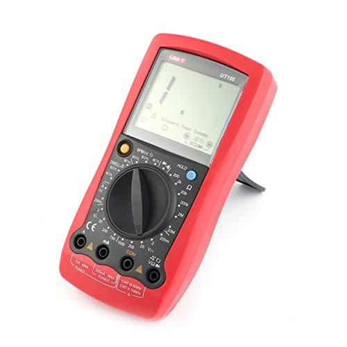 Multímetro de mano automotriz UNI-T AC/DC Voltímetro Voltímetro Digital Tester (Color: rojo y gris)