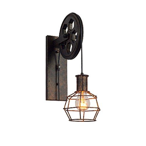 Lampada da parete vintage, paese americano retrò industriale lampada da parete decorazione lampada da parete ristorante in ferro battuto ascensore corridoio luci del corridoio,a