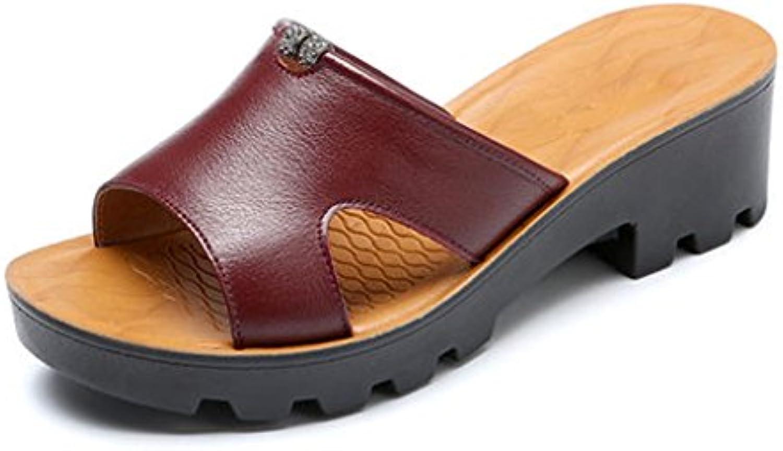 YUBIN Pantofola Femminile Usura Esterna Sandali Ms Confortevole Fondo Fondo Fondo Spesso Esterno Pantofola Donna Scarpe da...   Numeroso Nella Varietà  7fa48a