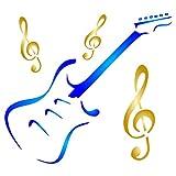 Plantilla de guitarra – Instrumento musical reutilizable Treble Clef Music Stencils para pintar – Uso en proyectos de papel scrapbook diario paredes suelos tela muebles cristal madera etc. medium