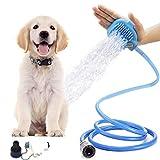 DIVISTAR Hundeduschsprayer, Haustier-Bade-Werkzeug Reinigungsbürste Waschbürste Hund Haarentferner Fellpflege, Massage mit 7,5 Fuß Schlauch