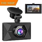 Crosstour Dash Cam In Car Camera 1080P Full HD 12MP 3 Inch LCD