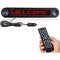 Leadleds DC 12V LED Coche mensaje Sign Board desplazamiento rojo mensaje, programable por mando a distancia