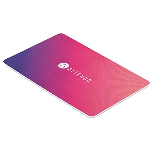 Attenuo RFID/NFC-Blocking-Karte Kontaktlose Karten Schutz | 1 Card schützt dagegen Das Brieftasche | Keine Batterien erforderlich, Keine knifflig Ärmel, Fuss-Free Schutz - Pink